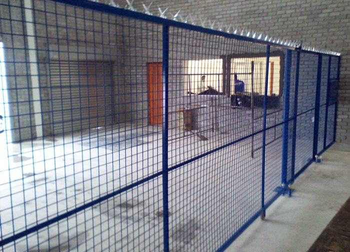 Steel Indoor Warehouse Safety Mesh Fences and partition manufactured and installed by Twisted Steel Port Elizabeth